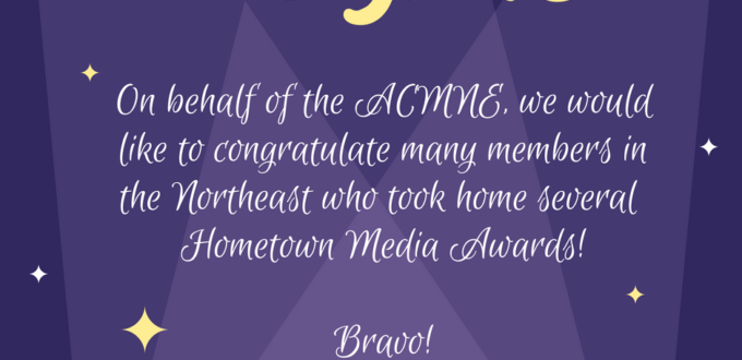 congratulatory card to hometown media winners